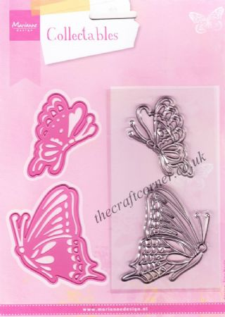 Tiny's Butterflies Die and Clear Rubber Stamps by Marianne Design